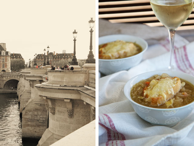 French onion soup and Paris