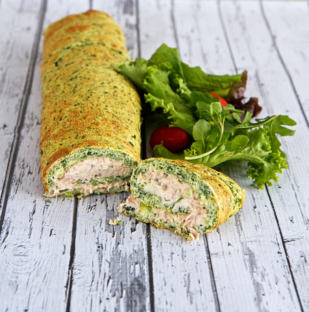 Tuna and spinach roulade
