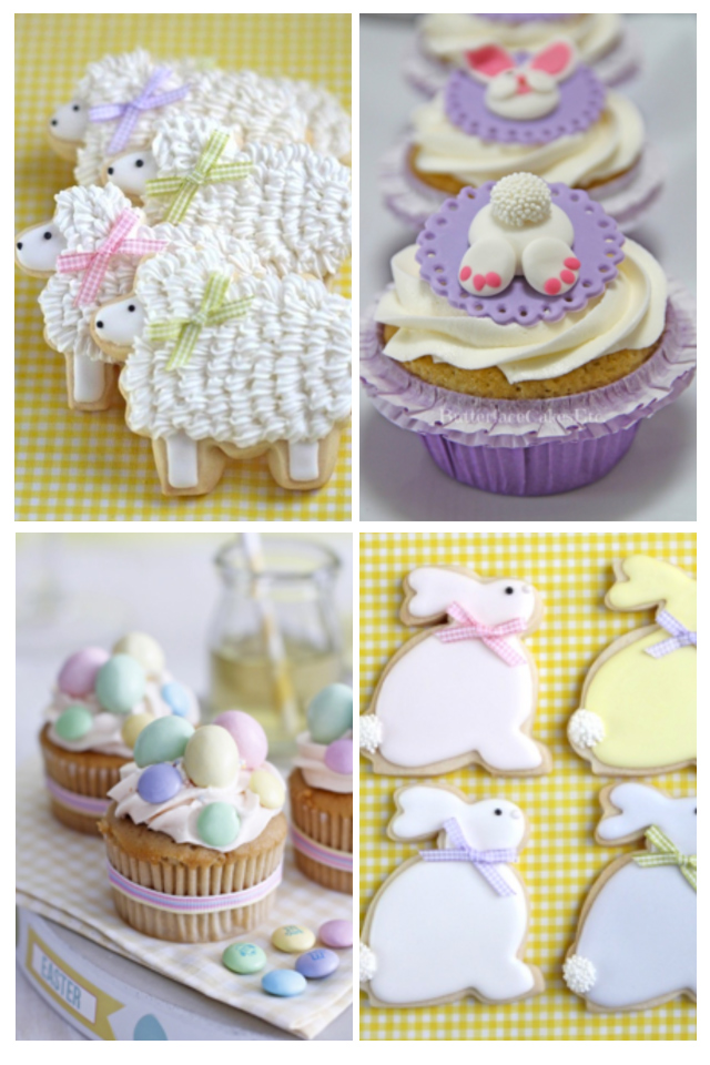 Cookies and cakes for easter