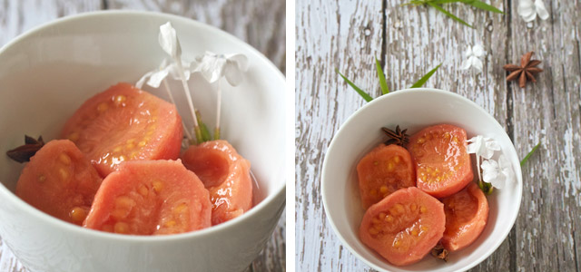 poached guavas