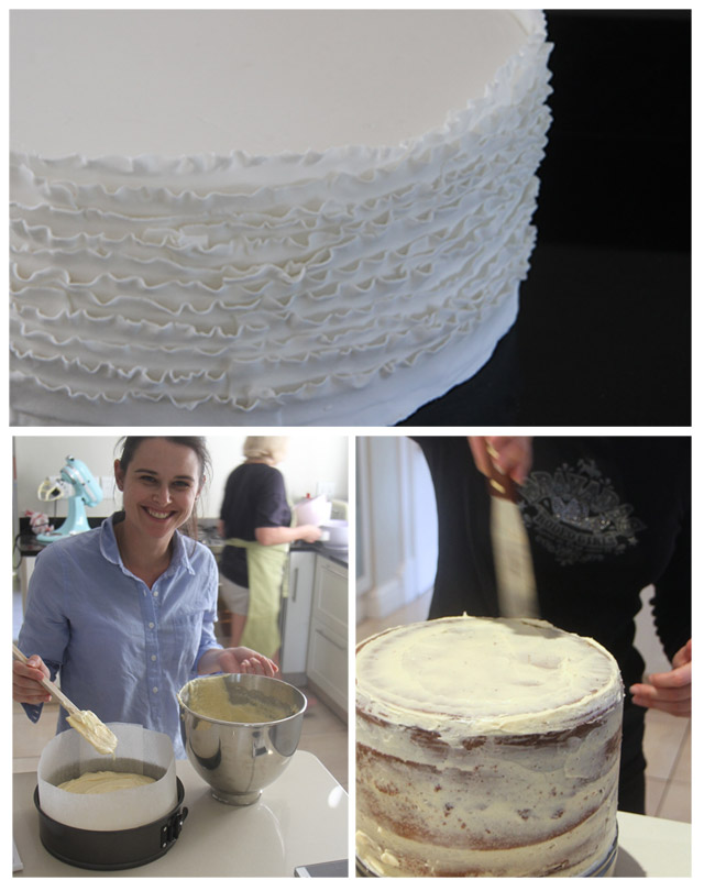 baking process for wedding cake