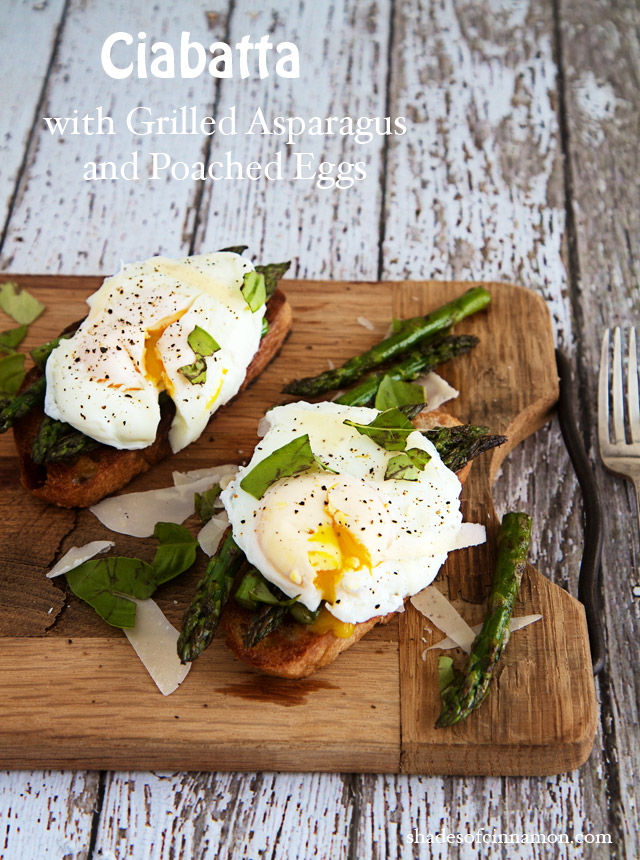 grilled asparagus and poached egg