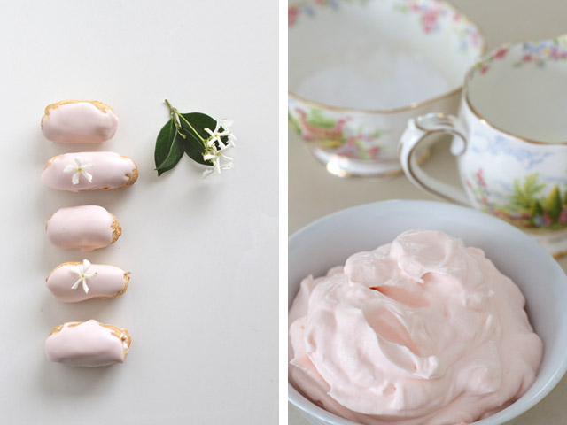 Rosewater-eclairs